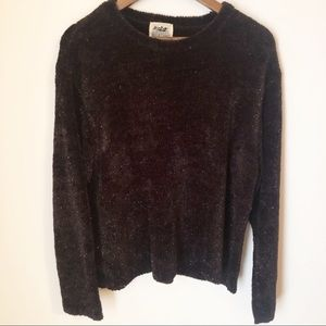 VINTAGE Black Sparkle Sweater